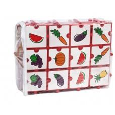 Dominó com Encaixe Frutas e Legumes